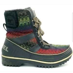 EUC Sorel Womens Tivoli II Ankle Boots Waterproof